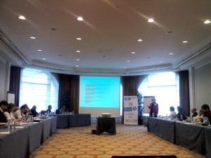 Rose Lockwood presenting at LT Day in Brussels